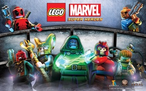 Picture Red, Sake, Deadpool, Loki, Doc Ock, Nick Fury, Lego Marvel, Dr Doom