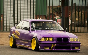 Picture Vision, Tuning, Graphics, Lilac, BMW M3 E36