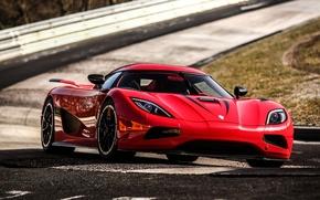 Picture red, red, supercar, track, track, agera R, Koenigsegg, koenigsegg, agera r