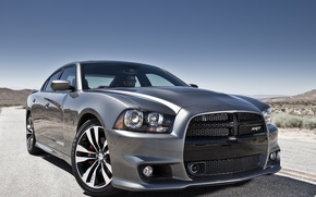 Picture lights, SRT8, car, the front, Dodge Charger