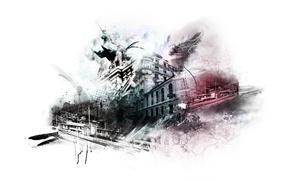 Wallpaper fantasy, city, photoshop