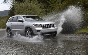 Picture water, squirt, jeep, jeep, grand cherokee
