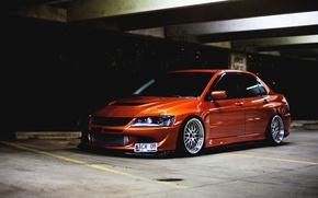 Picture Tuning, Lancer, Orange, Evolution, Evo, the front, Low, Mitsubishi
