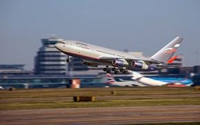 Picture strip, speed, airport, the plane, aircraft, the rise, speed, airport, takeoff, Aeroflot, Passenger, widebody, Ilyushin, …