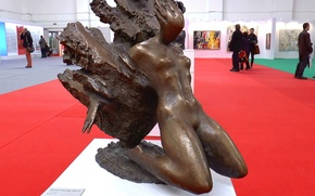 Picture Girl, interior, exhibition, sculpture, interior, sculpture, The girl, exhibition