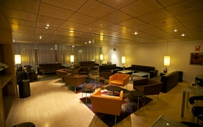 Picture Interior, Lights, Furniture, Zaragoza Station