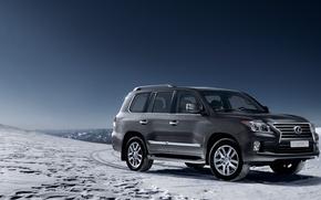 Picture winter, machine, auto, mountains, jeep, Lexus, LEXUS LX 570