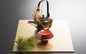 Picture Japan, kettle, the tea party, Cup, pine, saucer, tea ceremony, bowl