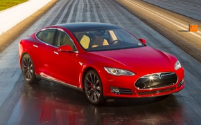 Picture Red, Tesla, Model S, 2015, P85D