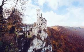 Picture Germany, autumn, castle, Lichtenstein