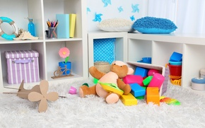 Picture toys, items, children's corner, children's room