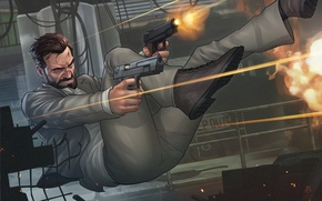 Picture weapons, guns, man, patrick brown, Max Payne 3, Max Payne
