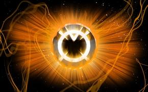 Picture logo, comics, lantern, DC Comics, Orange Lantern