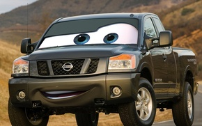 Picture cars, nissan, parody, pickup