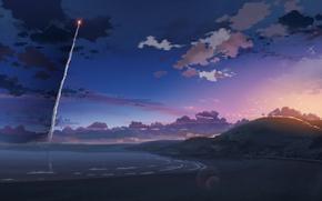 Wallpaper Makoto Xingkai, 5 centimeters per second, rocket