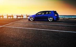 Picture tuning, Parking, promenade, volkswagen golf