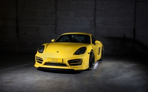 Picture yellow, Porsche, Cayman, Porsche, TechArt, Caiman