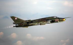 Picture the sky, flight, Fighter, bomber, Su-22
