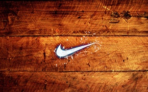 Wallpaper tree, wooden, nike