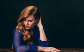 Picture makeup, dress, actress, hairstyle, brown hair, blue, photoshoot, Amy Adams, Amy Adams, Variety, Andrew H ...
