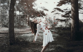 Picture girl, butterfly, the explosion, Georgina Walker