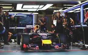 Picture Racer, Formula 1, Red Bull, Vettel, Boxes, Champion, Sebastian, RB10, Qualification