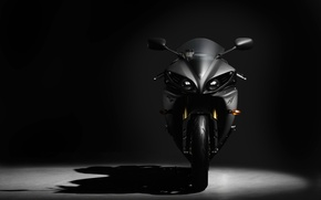 Wallpaper VIEW, background, sportbike, COLOR, SHADOW, FRONT, BLACK, yamaha