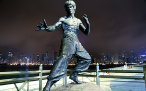 Picture background, monument, Bruce Lee, Bruce Lee, Hong Kong