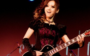 Picture music, Japanese, guitar, dress, miko, jrock, exist trace