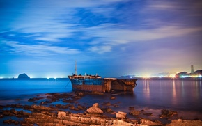 Picture STONES, The SKY, CLOUDS, The CITY, SHORE, LIGHTS, TAIWAN, TAIWAN