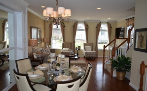 Picture design, style, Villa, interior, dining room, living space