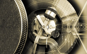 Wallpaper scheme, spinner, DJ