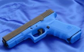 Picture Blue, Gun, Austria, Wallpaper, Background, Weapons, Glock, Glock, Wallpapers, Canvas, Austria, Weapons, 17T, 17T