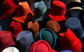 Picture background, color, hats