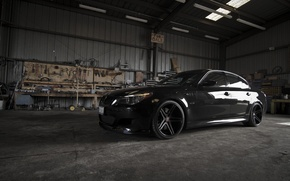 Picture reflection, black, black, bmw, BMW, shadow, instrumento, drives, black, side view, e60, stand