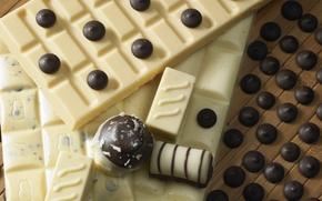 Picture white, dark, chocolate, candy, chocolate