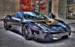 Picture F430, Ferrari, Black, Spider, Chrome