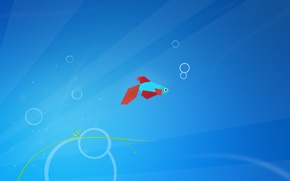 Picture minimal, minimalism, windows 8, fish, Aero+