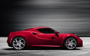 Picture Red, Alfa Romeo, Tinted, 4c