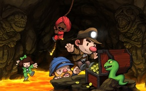 Picture the game, cave, adventure, Spelunky