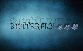 Picture text, butterfly, three, buttefly