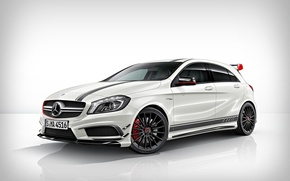 Picture white, tuning, Mercedes-Benz, Mercedes, drives, front, AMG, A45, aggressive