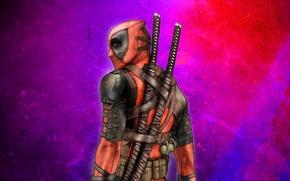Wallpaper Warrior, Deadpool, mask, swords, katanas