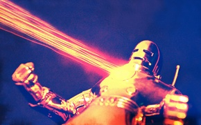 Picture anger, toys, Iron Man, Marvel, the laser beam, Golden Armor, Mark II Suit