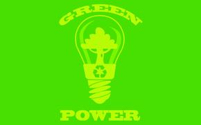 Wallpaper Natural, Green Power, Environment, Recycle, Minimalism