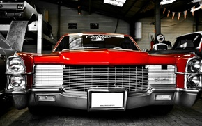 Picture Cadillac, Red, City, Classical, Retro Car