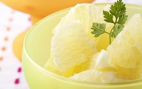 Picture ice, pineapple, dessert, parsley