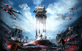 Picture star wars, star wars, battle, the battle, Star Destroyer, the rebels, x-wing, stormtroopers, Electronic Arts, …