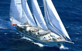 Picture ship, sailboat, Antigua, MONTIGNE, International sailing