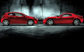 Picture red, mixed, Alfa romeo